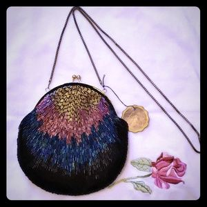 La Regale Vintage Beaded Evening Purse